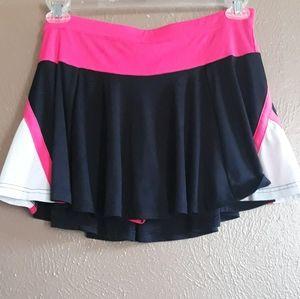 Champion Gear Tennis Skirt pink/black Jr XL
